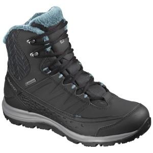 נעלי טיולים סלומון לגברים Salomon KAIPO Mid Goretex - שחור/תכלת