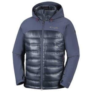 בגדי חורף קולומביה לגברים Columbia Heatzone 1000 Turbodown II - אפור/כחול