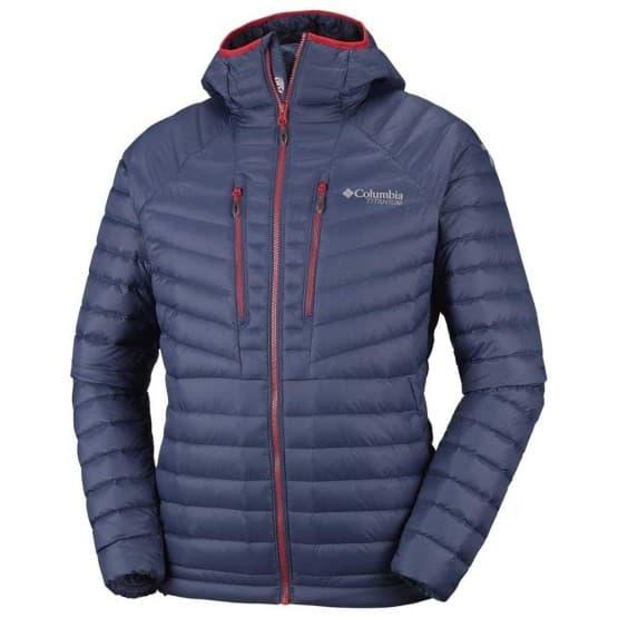 בגדי חורף קולומביה לגברים Columbia Altitude Tracker Hooded - אפור/כחול