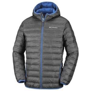 בגדי חורף קולומביה לגברים Columbia Lake 22 Down Hooded - אפור