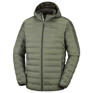 בגדי חורף קולומביה לגברים Columbia Lake 22 Down Hooded - אפור/ירוק
