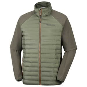 בגדי חורף קולומביה לגברים Columbia Flash Forward Hybrid - חום/ירוק