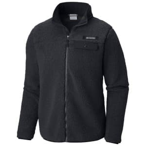 בגדי חורף קולומביה לגברים Columbia Mountain Side Heavyweight Full Zip - שחור