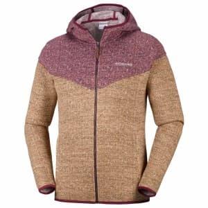 בגדי חורף קולומביה לגברים Columbia Boubioz Hooded Full Zip - כתום / סגול