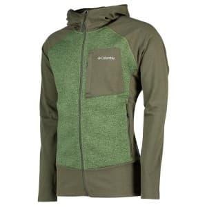 בגדי חורף קולומביה לגברים Columbia Marley Crossing Hooded Hybrid - אפור/ירוק