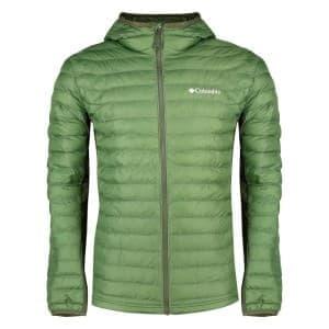 בגדי חורף קולומביה לגברים Columbia Powder Lite Light Hooded - ירוק