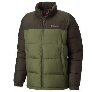 בגדי חורף קולומביה לגברים Columbia Pike Lake - חום/ירוק