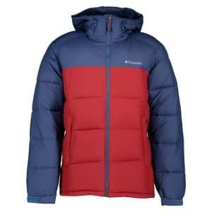 בגדי חורף קולומביה לגברים Columbia Pike Lake Hooded - כחול/אדום