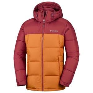 בגדי חורף קולומביה לגברים Columbia Pike Lake Hooded - בורדו/כתום