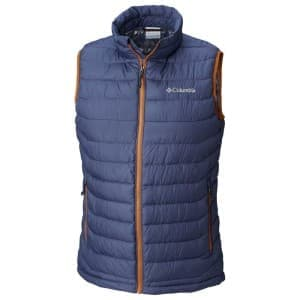 בגדי חורף קולומביה לגברים Columbia Powder Lite Vest - כחול/כתום