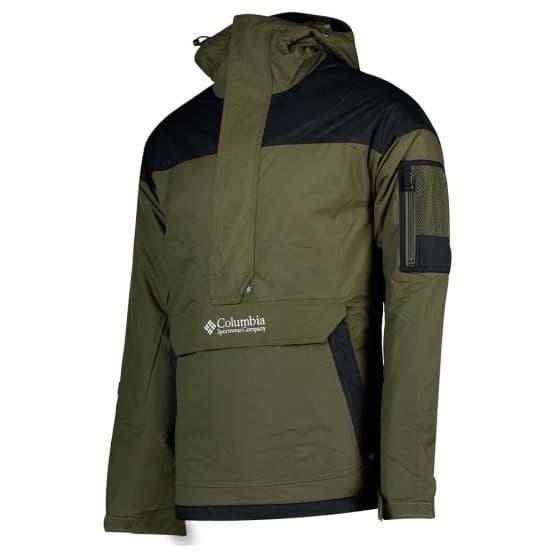בגדי חורף קולומביה לגברים Columbia Challenger Pullover - שחור/ירוק