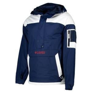 בגדי חורף קולומביה לגברים Columbia Challenger Pullover - כחול/לבן