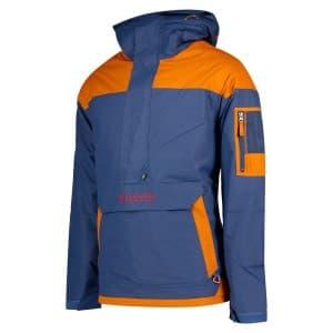 בגדי חורף קולומביה לגברים Columbia Challenger Pullover - כחול/כתום