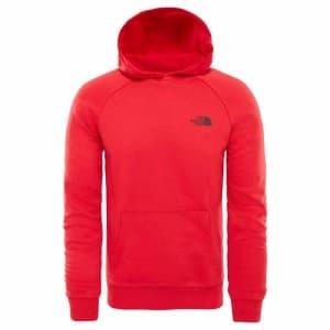 ביגוד דה נורת פיס לגברים The North Face Raglan Red Box Hoodie - אדום