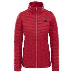 בגדי חורף דה נורת פיס לנשים The North Face Thermoball Full Zip - אדום