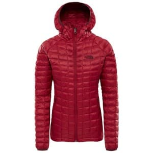 בגדי חורף דה נורת פיס לנשים The North Face ThermoBall Sport Hoodie - אדום