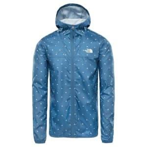 בגדי חורף דה נורת פיס לגברים The North Face Printed Cyclone Hoodie - תכלת