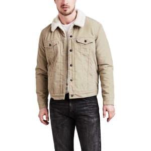 בגדי חורף ליוויס לגברים Levi's Type 3 Sherpa Trucker - בז'