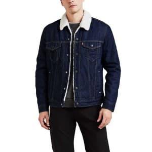 בגדי חורף ליוויס לגברים Levi's Type 3 Sherpa Trucker - כחול