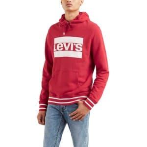ביגוד ליוויס לגברים Levi's Graphic Po Hoodie - אדום