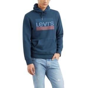 ביגוד ליוויס לגברים Levi's Graphic Po Hoodie - כחול