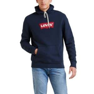 ביגוד ליוויס לגברים Levi's Modern HM Hoodie - כחול כהה
