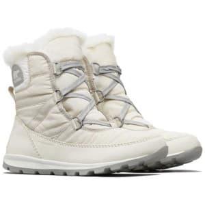 מגפיים סורל לנשים Sorel Whitney Short Lace - לבן