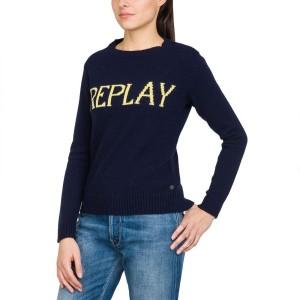 ביגוד ריפליי לנשים REPLAY DK1219 - כחול