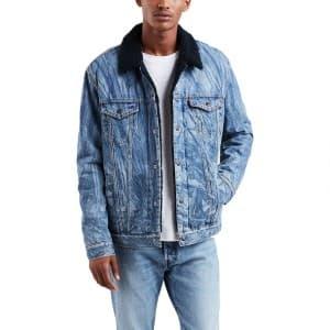בגדי חורף ליוויס לגברים Levi's Justin Timberlake Sherpa Trucker - כחול