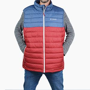 בגדי חורף קולומביה לגברים Columbia Powder Lite Vest - כחול/אדום