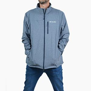 בגדי חורף קולומביה לגברים Columbia Heather Canyon Hoodless - כחול