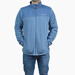 בגדי חורף קולומביה לגברים Columbia Fast Trek Novelty Full Zip - כחול