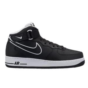 נעליים נייק לגברים Nike Air Force 1 Mid  07 Leather - שחור/לבן
