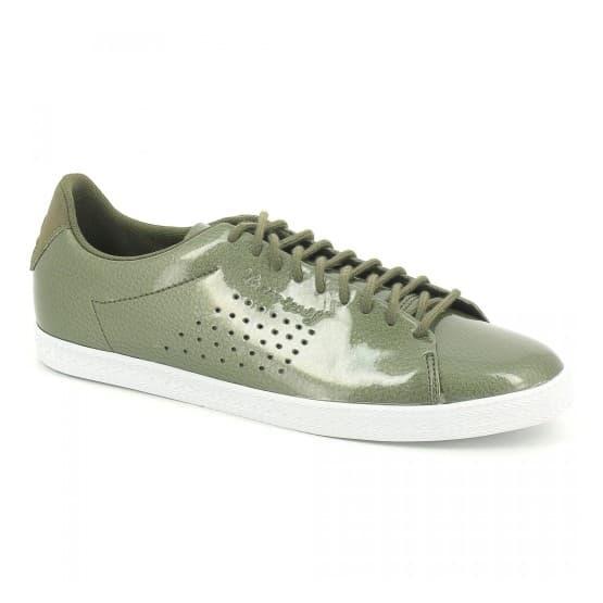 נעליים לה קוק ספורטיף לנשים Le Coq Sportif CHARLINE COATED S LEATHER olive night - ירוק
