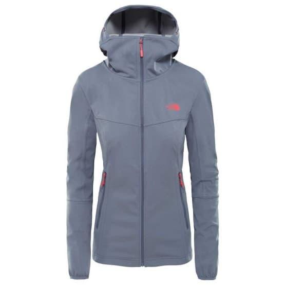 בגדי חורף דה נורת פיס לנשים The North Face Hikesteller Softshell Hoodie - אפור