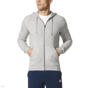 ביגוד אדידס לגברים Adidas Adidas Essentials Base Full Zip Hood Fleece M - אפור
