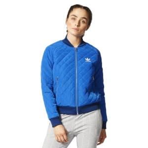 בגדי חורף אדידס לנשים Adidas Originals Quilted Tracktop Bomber - כחול