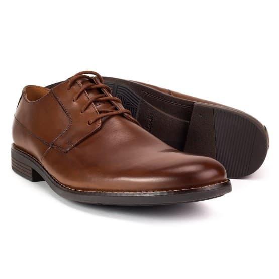 נעליים אלגנטיות קלארקס לגברים Clarks Becken Plain - חום