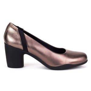 נעלי עקב גבוהות קלארקס לנשים Clarks UN Rosa Step - ברונזה