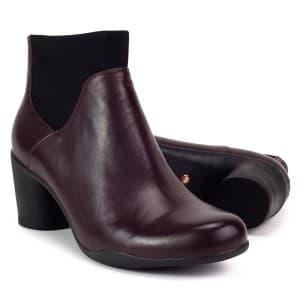 נעלי עקב גבוהות קלארקס לנשים Clarks UN Rosa Mid - חום