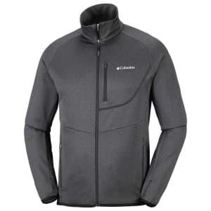 בגדי חורף קולומביה לגברים Columbia Drammen Point Full Zip - שחור