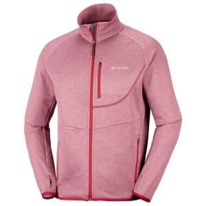 בגדי חורף קולומביה לגברים Columbia Drammen Point Full Zip - אדום