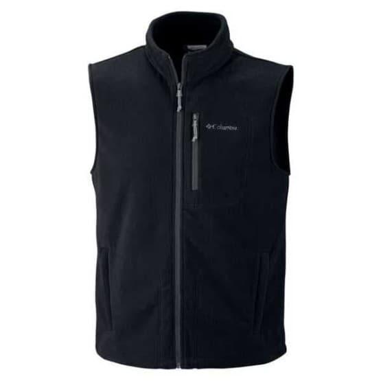 בגדי חורף קולומביה לגברים Columbia Fast Trek Fleece Vest - שחור