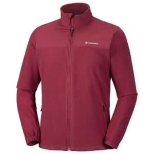 בגדי חורף קולומביה לגברים Columbia Fast Trek Novelty Full Zip - אדום