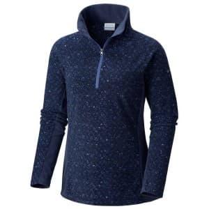בגדי חורף קולומביה לנשים Columbia Glacial IV Print  Zip - כחול כהה