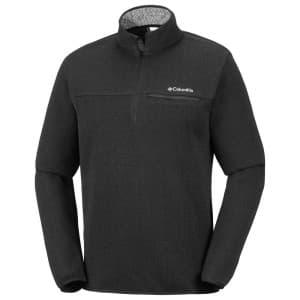 בגדי חורף קולומביה לגברים Columbia Terpin Point III Half Zip - שחור