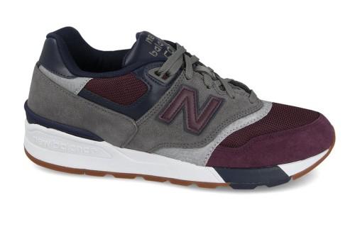 נעלי הליכה ניו באלאנס לגברים New Balance ML597 - אפור/סגול
