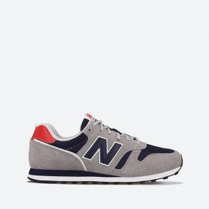 נעלי סניקרס ניו באלאנס לגברים New Balance ML373 - אפור/אדום