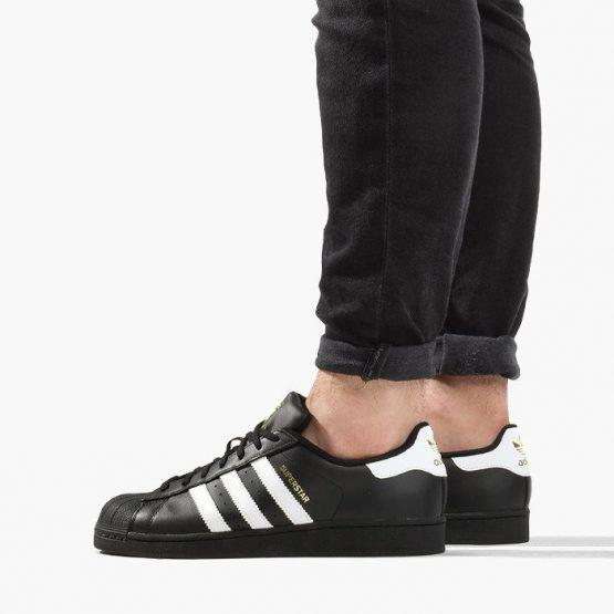 נעלי סניקרס אדידס לנשים Adidas Superstar Foundation - שחור/לבן
