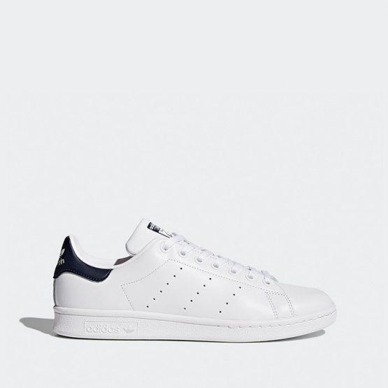 נעלי סניקרס אדידס לגברים Adidas Originals Stan Smith - כחול/לבן